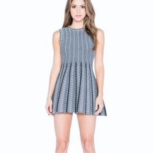 JOA Sleeveless Knit Fit and Flare Mini Dress L